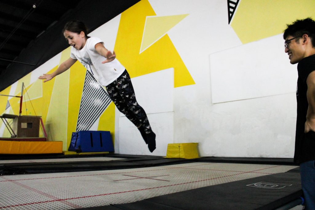 Trampoline Juniors The Yard Singapore classes holiday camps